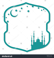 islamic invitation cards islamic vector frame greeting invitation card stock vector