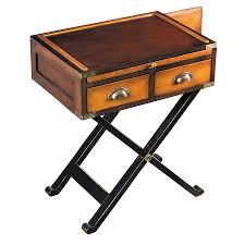 19th century campaign box side table hidden storage table secret