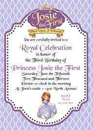 princess sofia the first birthday invitations image collections