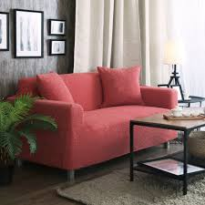 Red Pictures For Living Room by Home Decor Theory Solid Color Knitted Stretch Sofa Cover For