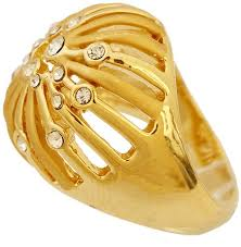 golden rings online images Buy golden essentials 22k gold plated taj crown design ring with jpg