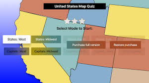 United States Geography Map by United States Map Quiz Usa Geography Challenge Apps 148apps