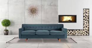 Modern Comfortable Couch Kennedy Sofa Neptune Plush Kardiel