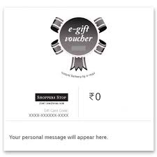 shoppers stop gift card 10 shoppers stop instant voucher in gift cards