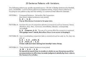 identify sentence pattern english grammar edittip sentence structure and styling sentences word bank