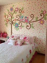 bedroom beautiful colorful cute girl bedroom decoration using beautiful colorful cute girl bedroom decoration using colorful owl girl room wall mural including quilted white girl bed sheet and pleat light pink bed