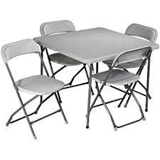 Cosco Folding Table And Chairs Amazon Com Cosco 5 Piece Folding Table And Chair Set Tan