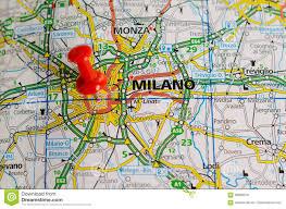 Milan Italy Map Milan On Map Stock Photo Image Of Milano Atlas Gorgonzola