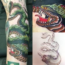 midgard serpent curt baer iron mountain tattoo redding ca
