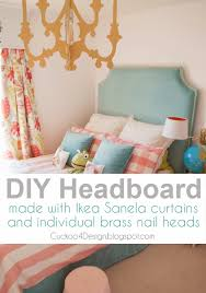Where To Buy Decorative Nail Heads Diy Headboard Tutorial With Individual Brass Nails Cuckoo4design
