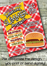 summer bbq flyer block party 4th of july event flyer poster