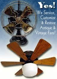 vintage fans antique and vintage ceiling and desk fan restoration vintage