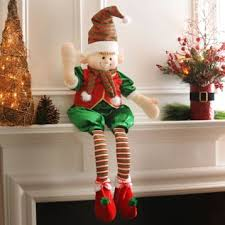 ritzy elf shelf sitter elves christmas decor and polymer clay