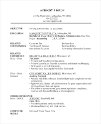 Sample Accounting Student Resume by Resume Sample Accounting Graduate Templates