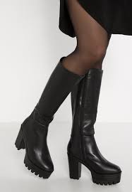 myer s boots smith heeled boots pacey high black
