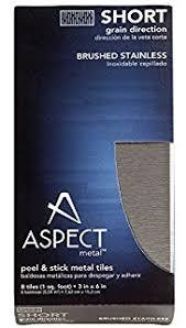 Aspect Peel And Stick Backsplash by Amazon Com Aspect Peel And Stick Backsplash 3in X 6in Brushed