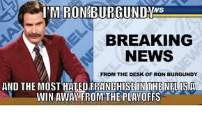 Breaking News Meme Generator - ro breaking news from the desk of ron burgundy and the most hated