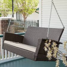 white porch swing wicker weather resistant steel frame sturdy