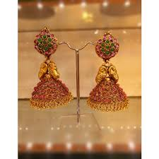 kerala style jhumka earrings traditional temple jewellery jhumkas online shopping for