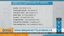 can celebrate american thanksgiving in toronto