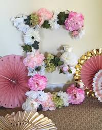 diy flower letter tutorial the style sisters