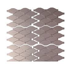 Tile Backsplash by Inoxia Speedtiles Bengal 11 75 In X 11 6 In Stone Adhesive Wall