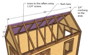 How To Build A Shed Roof House by Ana White Playhouse Roof Diy Projects