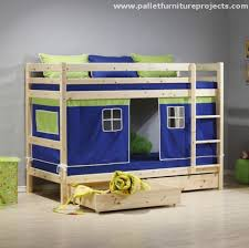 Plans For Bunk Beds With Drawers by Pallet Bunk Bed Projects Pallet Wood Projects
