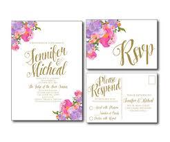 wedding invitations rsvp cards floral wedding invitation floral wedding printable