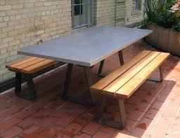 Concrete Patio Table Wonderful Concrete Patio Furniture Outdoorlivingdecor Regarding