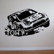 wall murals vinyl promotion shop for promotional wall murals vinyl vw golf rally car wall art sticker motorsports decal children room vinyl mural