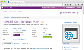 templates for asp net web pages asp net core template pack visual studio 2017 pinterest template