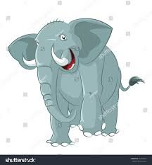 vector image big funny cartoon elephant stock vector 137019077