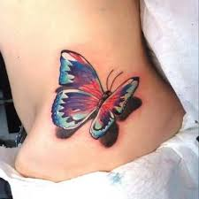 hip 3d butterfly design for tattooshunter com