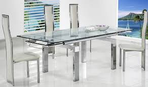dining table extendable 4 to 8 modern glass extendable dining table utah 665 00 regarding