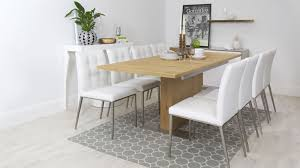 dining table extendable 4 to 8 extending dining tables oak furniture superstore in oak extendable