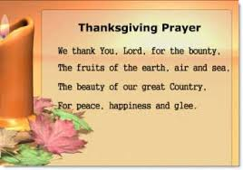 prayer of thanksgiving day with a powerpoint