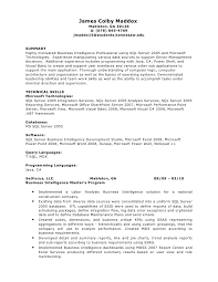 Sample Resume For Sql Developer by Download Bi Developer Resume Haadyaooverbayresort Com