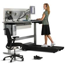 Walking Desk Treadmill Standing While Working