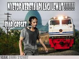 Mad Dog Meme - mad dog vs kereta api maap masih newbie 1cak for fun only