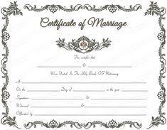 Free Wedding Certificate Template printables certificate of marriage template free