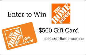 500 gift card home depot 500 gift card giveaway hoosier