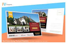 real estate listing postcard card templates creative market