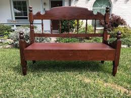 Bed Frame Bench Bench Re Purposed From Heirloom Bed Frame Dyer Custom