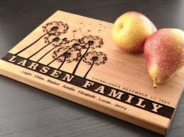 cutting boards engraved personalized family tree cutting board anniversary gift