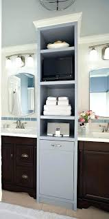 double sink vanity with middle tower double vanity with center tower medium size of linen bathroom