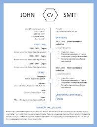 modern resume layout 2014 modern resume template 793 799 free cv template dot org