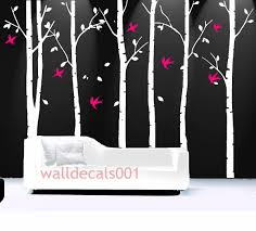 White Tree Wall Decal For Nursery by Beautiful Flower Wall Decals For Kids And Teen 413 Green Way Parc