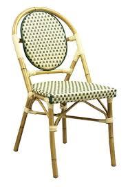 Wicker Bistro Chairs Bistro Aluminum Chair Beige Green