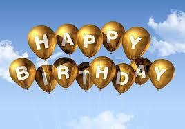 birthday balloons for men 3d gold happy birthday balloons in the sky stock photo colourbox